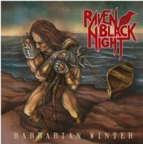 RAVEN BLACK NIGHT - Barbarian Winter (Blue Marbled vinyl)