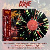 GRAVE - You'll Never See... (Black Vinyl + Yellow/Red Splatter)