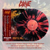 GRAVE - You'll Never See... (Black Vinyl + Red Splatter)