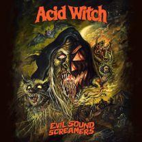 ACID WITCH - Evil Sound Screamers (Yellow w/ Orange/Red/Green Splatter ,Autumn Splatter vinyl)
