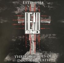 DEAD END - Estd. 1988 - Three Decades Of Doomed Death (Red Marbled vinyl)