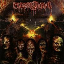 fleshcrawl - As Blood Rains From The Sky ... We Walk The Path Of Endless Fire (Red / White Marbled Vinyl)