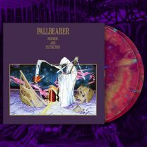 PALLBEARER - Sorrow And Extinction ( Neon Violet, Gold, Hot Pink Tri-color Merge w/ Cyan Splatter)