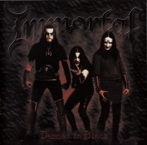 IMMORTAL - Damned In Black (Clear with Red Marble Vinyl)