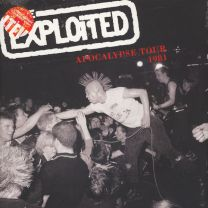 THE EXPLOITED - Apocalypse Tour 1981 (Red with White Splatter Vinyl)