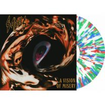 SADUS - A Vision Of Misery (Ultra Clear with blue green red splatter Vinyl)