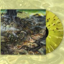 CEREBRAL ROT - Odious Descent Into Decay (Neon Yellow / Piss Yellow Merge w/ Olive Green, Brown & Bone Splatter Vinyl.)